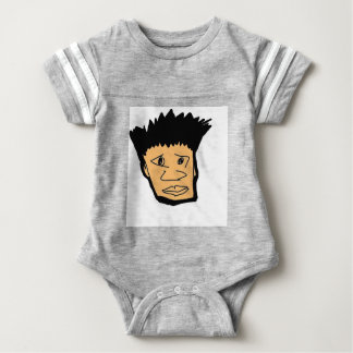 filipino boy  cartoon face collection baby bodysuit
