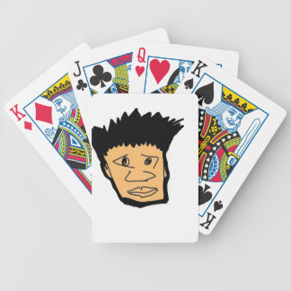 filipino boy  cartoon face collection bicycle playing cards