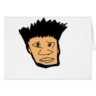 filipino boy  cartoon face collection card