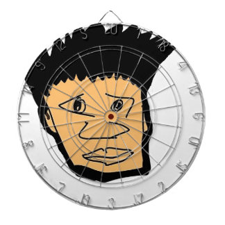 filipino boy  cartoon face collection dartboard