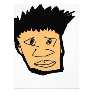 filipino boy  cartoon face collection letterhead