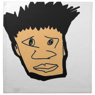 filipino boy  cartoon face collection napkin