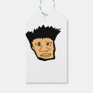filipino boy  cartoon face collection pack of gift tags