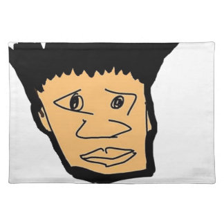 filipino boy  cartoon face collection placemat
