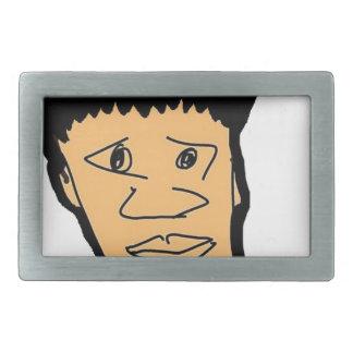 filipino boy  cartoon face collection rectangular belt buckle