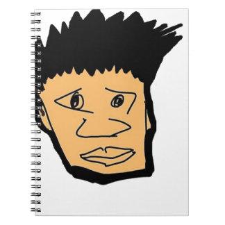 filipino boy  cartoon face collection spiral notebook