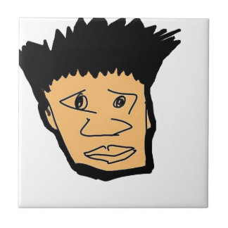 filipino boy  cartoon face collection tile
