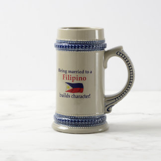 Filipino Builds Character 18 Oz Beer Stein