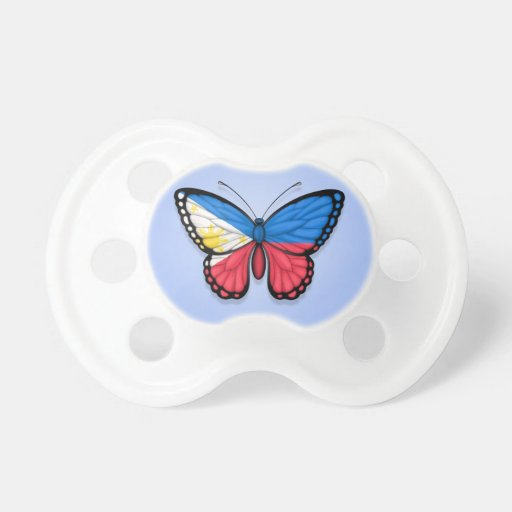 Filipino Butterfly Flag on Blue Pacifiers