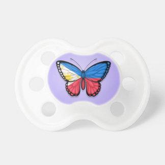 Filipino Butterfly Flag on Purple Pacifier