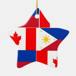 Filipino-Canadian.png Ceramic Star Ornament