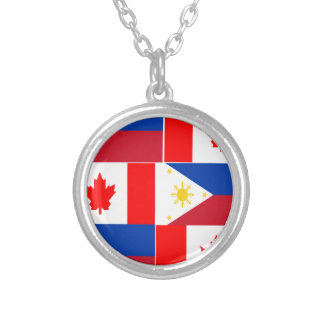 Filipino-Canadian.png Round Pendant Necklace