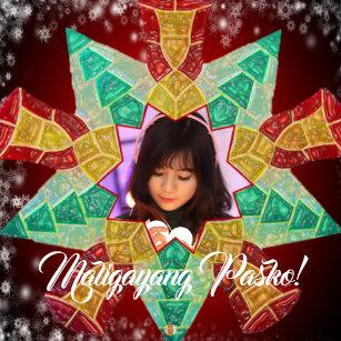 filipino colourful star lantern parol style metal ornament - Filipino Christmas Star