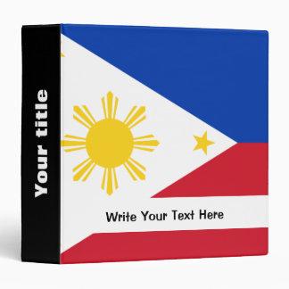 Filipino flag 3 ring binders
