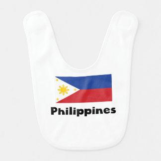Filipino Flag Baby Bib