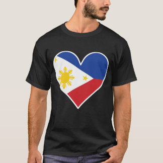 Filipino Flag Heart T-Shirt