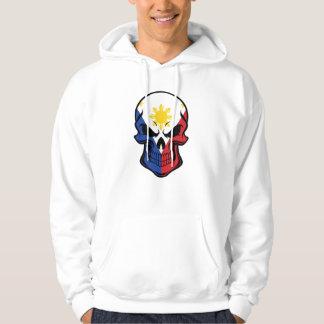 Filipino Flag Skull Hoodie