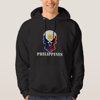 Filipino Flag Skull Philippines Hoodie