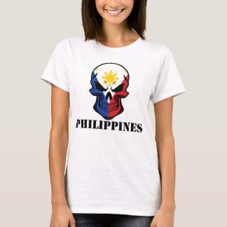 Filipino Flag Skull Philippines T-Shirt
