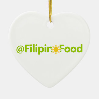 Filipino Food Ceramic Heart Ornament