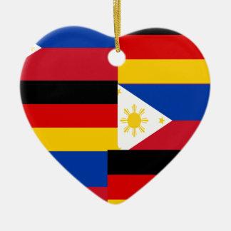 FILIPINO-GERMAN CERAMIC HEART ORNAMENT