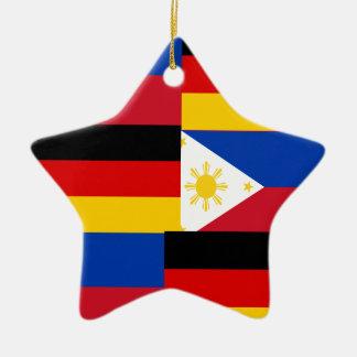 FILIPINO-GERMAN CERAMIC STAR ORNAMENT