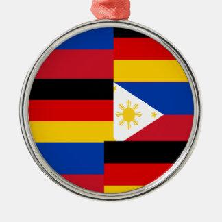 FILIPINO-GERMAN Silver-Colored ROUND ORNAMENT
