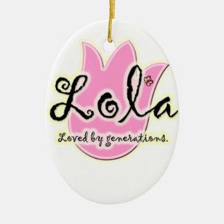 Filipino Lola Mother's Day Gift Ceramic Oval Ornament