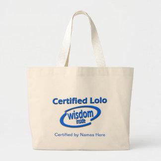 Filipino Lolo Gift – Certified Lolo Wisdom Inside Jumbo Tote Bag