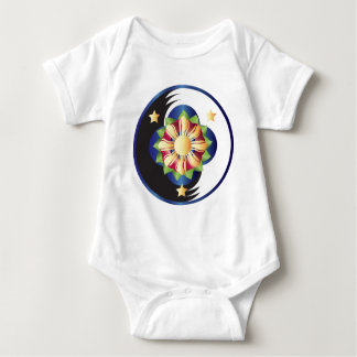 Filipino Lotus Flower Mandala Baby Bodysuit
