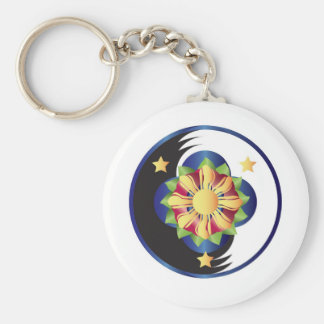 Filipino Lotus Flower Mandala Keychain