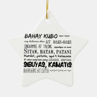 Filipino Nursery Rhyme Series Ceramic Star Ornament