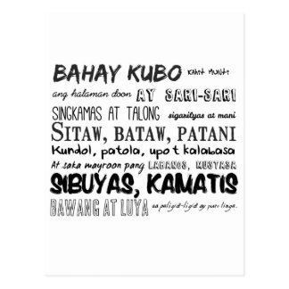 Filipino Nursery Rhyme Series Postcard