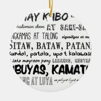 Filipino Nursery Rhyme Series Round Ceramic Ornament