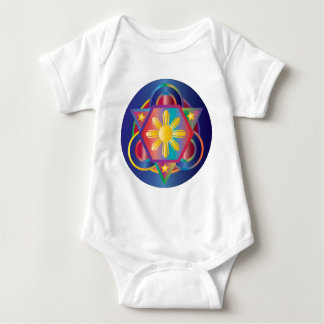 Filipino Rainbow Mandala Baby Bodysuit