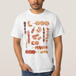 Filipino Street Food in Watercolor Pinoy T-Shirt