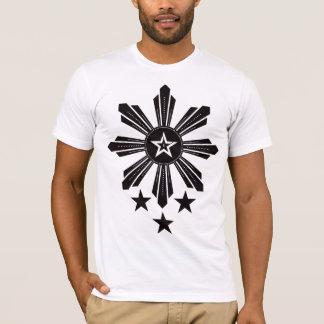 Filipino Sun and Stars - Black T-Shirt