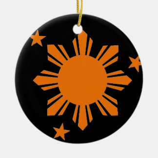 Filipino Sun and Stars Holiday Tree Ornament