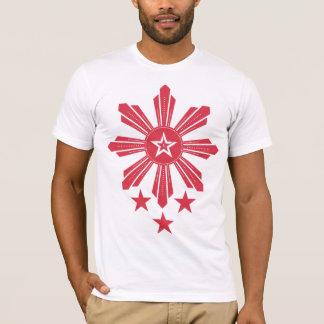 Filipino Sun and Stars - Red T-Shirt