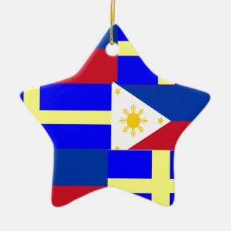 FILIPINO-SWEDISH CERAMIC STAR ORNAMENT