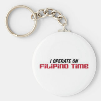Filipino Time Keychain