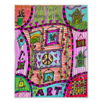 Fill Your Home With Art Poster