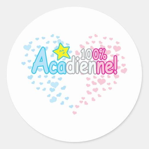 fille 100% d'Acadienne-bébé Autocollants