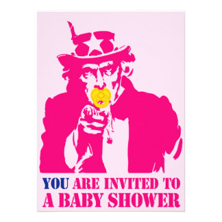 Fille baby shower invitation