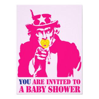 Fille, baby shower invitation