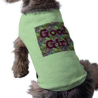 Fille colorée de Camo d'amusement de couleur de la Tee-shirts Pour Animaux Domestiques
