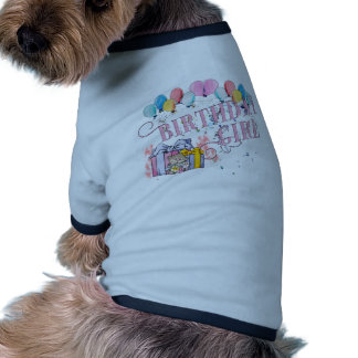 Fille d'anniversaire tee-shirts pour animaux domestiques