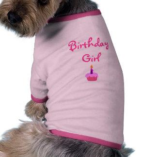 Fille d'anniversaire tee-shirts pour chien
