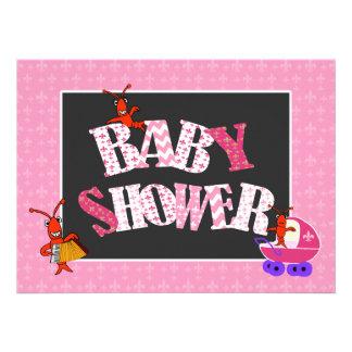 Fille de baby shower de Patchwork Fleur de Lis Cra