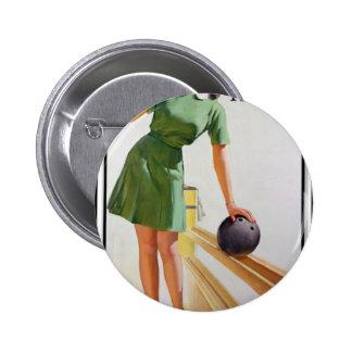 Fille de bowling badge avec épingle